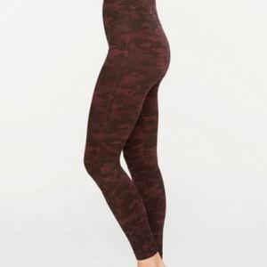 SPANX red camo seamless leggings